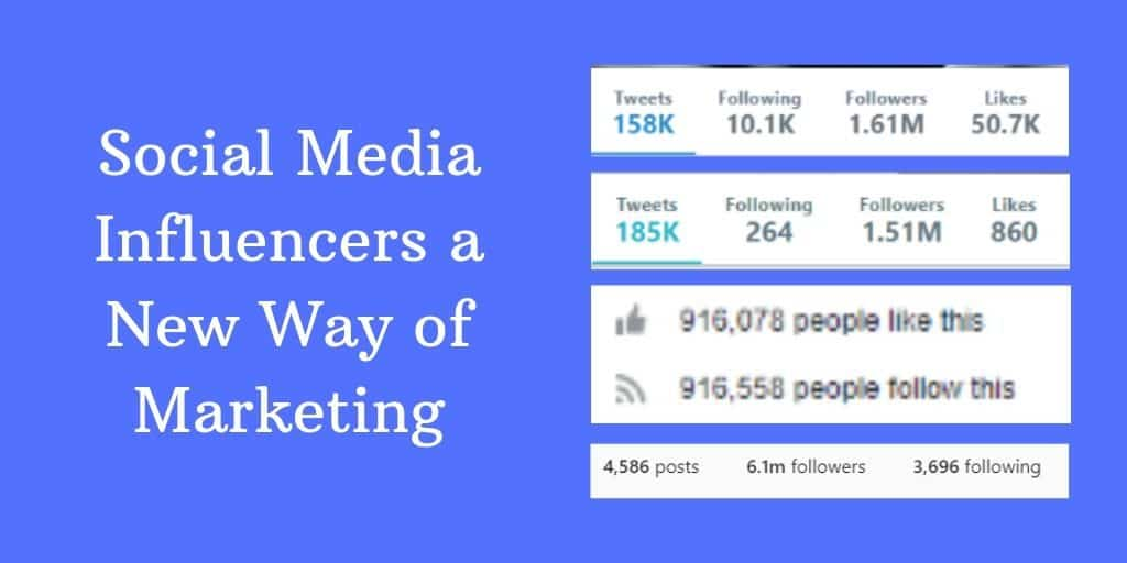 Social Media Influencers a New Way of Marketing
